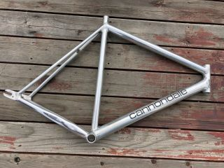 1993 56 57 Cm Cannondale Track Frame Polished No Dents Rare & Sexy