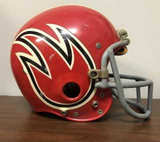 Rare 1974 Wfl World Football League Game Helmet Chicago Fire W/facemask