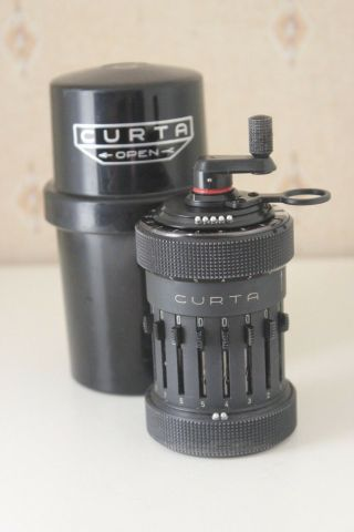 ♕♕♕ Rare Late - Curta Calculator Type I 75517 - Very Good Cond - 1969 ♕♕♕