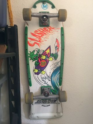 Vintage Keith Meeks Santa Cruz Slasher Skateboard
