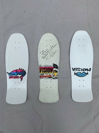Mark Gonzales Face Vision Vintage Skateboard Color My Friends In Gonz And Roses