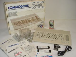 Vintage Commodore 64c Personal Computer W/ Geos,  Accs & Manuals