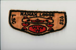 Vintage Lodge 526 Nahak F2 Lsc On Left - Cut Edge Patch [cm0556]