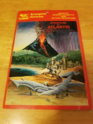 Rare Adventure To Atlantis By Synergistic Software Apple Ii Computer Game 1982