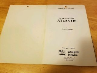 Rare Adventure To Atlantis by Synergistic Software Apple II Computer Game 1982 5