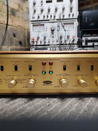 H.  H.  Scott 130 Tube Stereo Preamplifier Rare Unmolested