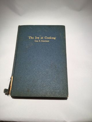 1931 - The Joy Of Cooking Cook Book By Rombauer & Becker Vintage Recipes Hb
