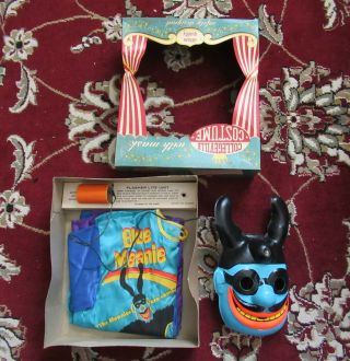 Beatles Ultra Rare 1968 Yellow Submarine Halloween Costume In The Box W Light