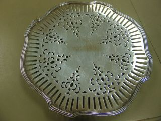 Footed Sterling Tray Neat Design 9 3/4 Inch