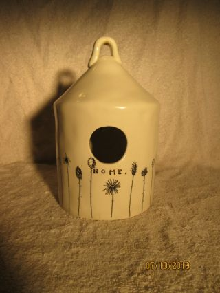 Rae Dunn Vintage Magenta Exclusive Homeline Floral Birdhouse.  Please Read Info.
