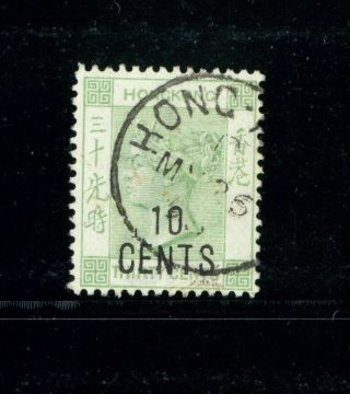 (hkpnc) Hong Kong 1898 Qv 10c/30c No Chinese Vf Postally Very Rare