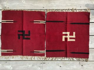 Two Small Antique Native American Saddle Blanket Rugs