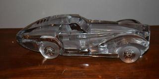 Rare Large 1st Edition Daum France Cut Crystal Coupe Riviera Sports Car - Signed