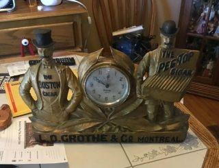 Antique Advertising Cigar Clock