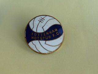 Vintage Tottenham Hotspur Fc Football Club Enamel Badge