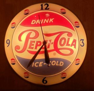 Pepsi Double Bubble Clock - Vintage Advertising From The 1950