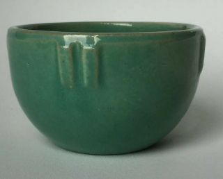 "Rare Jade Green 1920s Bauer Pottery 3 - 3/4 Inch Dia.  "" Indian Bowl"" Planter Obo"
