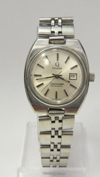 Vintage Omega Seamaster Automatic Silver Dial Date Dress Women