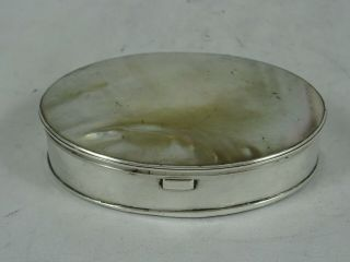 Solid Silver & Mother Of Pearl George Iii Snuff Box,  C1770,  47gm
