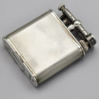 Vintage Dunhill Sterling Silver Lift Arm Lighter Pat 390107 65.  7 Grams