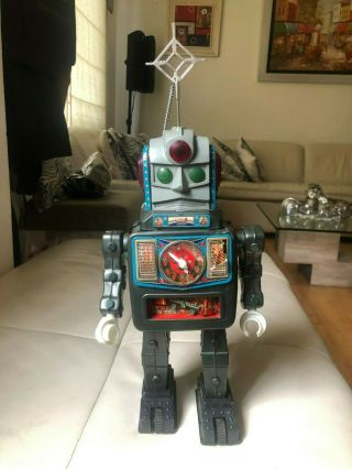 Extremely Rare Alps Moon Explorer Tin Toy Battery Operated Robot Japan Made 14
