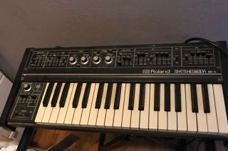 Vintage Roland Sh - 2 Monophonic Synthesizer Keyboard With Stand.