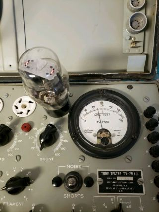 TV - 7D/U Military Conductance Tube Tester Vintage American made 3