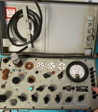 TV - 7D/U Military Conductance Tube Tester Vintage American made 4