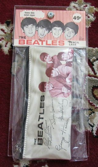 Beatles Ultra Rare 1964 Pencil Case In The Package With Header Card