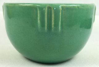 "Rare Green 1920s Bauer Pottery 3 - 3/4 Inch "" Indian Bowl "" Planter"