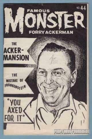 Famous Monster Forry Ackerman 44th Birthday Fanzine Signed By Many Rare 1960