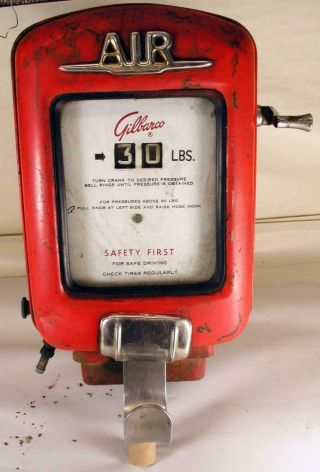 Vintage Gilbarco Model Am 11b - 1 Wall Mount Air Meter Service Station Garage