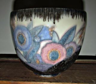 Antique 1929 Arts And Crafts Rookwood Pottery Bowl Vase Pot Flowers Signed