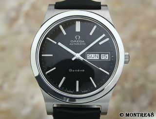 Omega Geneve Swiss Made Vintage 1970s Day Date Automatic 36mm Mens Watch Je125