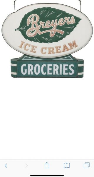 Breyers Rare Ice Cream Double Sided Sign