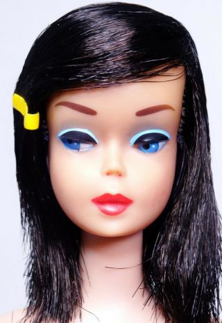 Rare Vintage Midnight High Color Color Magic Barbie Doll Head Only