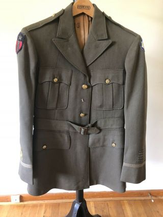 Wwii Us Army Corps Of Engineers Class A Jacket With Bullion Cbi Patch