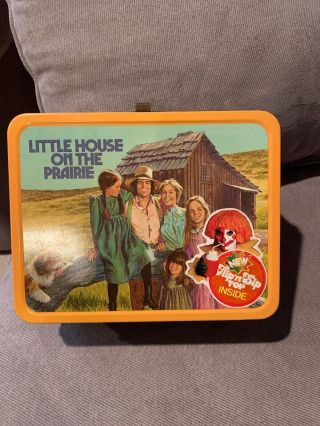 Ultra Rare Little House On The Prairie Metal Lunchbox W/ Thermos 1978