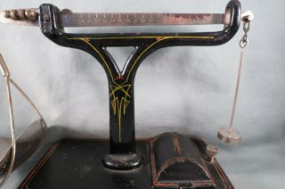 Rare Small Fairbanks Scale,  Weights In Cast Iron Base,  7