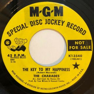 "Charades "" The Key To My Happiness "" (mgm) Rare Northern Soul 45 Hear"