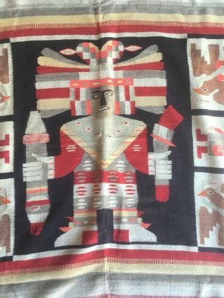 Old Antique Mexican Hand - Woven Textile -