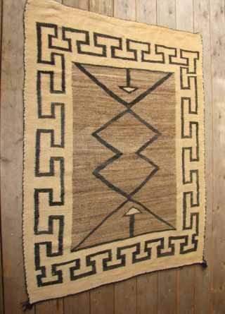 Antique Navajo Double Saddle Blanket All Natural Native American Rug