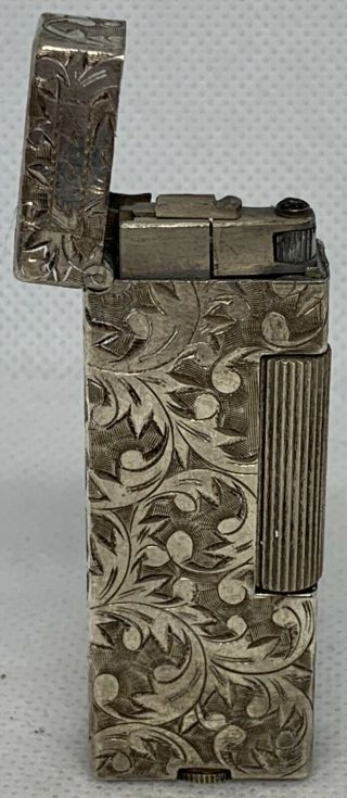 Ornate Antique 950 Sterling Silver Repousse Roll - A - Lite Lighter
