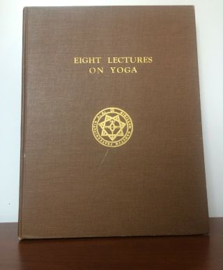 Aleister Crowley Eight Lectures On Yoga First Edition Thelema Magick Rare Occult