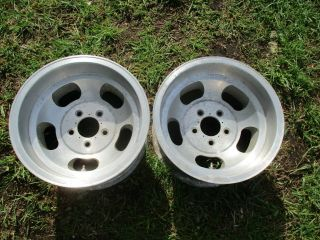 15 X 8.  5 Us Indy Slotted Mag Wheels Old School 5x4.  75 Slot Vintage Chevy 5 Lug