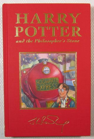Harry Potter Philosophers Stone 1st/1st Uk Deluxe Hc Rare 1st Printing