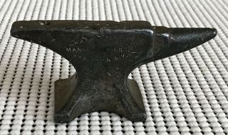 Antique Miniature Anvil Hay Budden Manufacturing Co Brooklyn Ny Salesman Sample