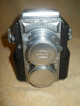 Rare Vintage Zeiss Ikon Contaflex Tlr Twin Lens Reflex Camera Not