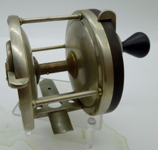 Vintage Rare Edward Vom Hofe 550 3 - 0 Fishing Reel German Silver Pat.  May 20 1902
