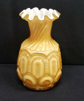 Moon And Star Glass Lg Wright Whimsey Vase Sample Test Piece 1 Of 1 Rare
